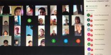 Онлайн собрание с родителями студентов
